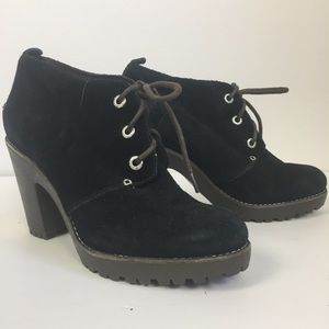 Sherry Princeton Lace Up Suede Boots Size 7M